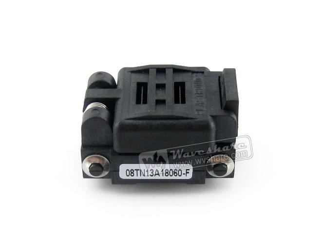 08TN13A18060 enchufe de prueba IC plestronics paso de 1,3mm para paquete QFN8, MLP8, MLF8