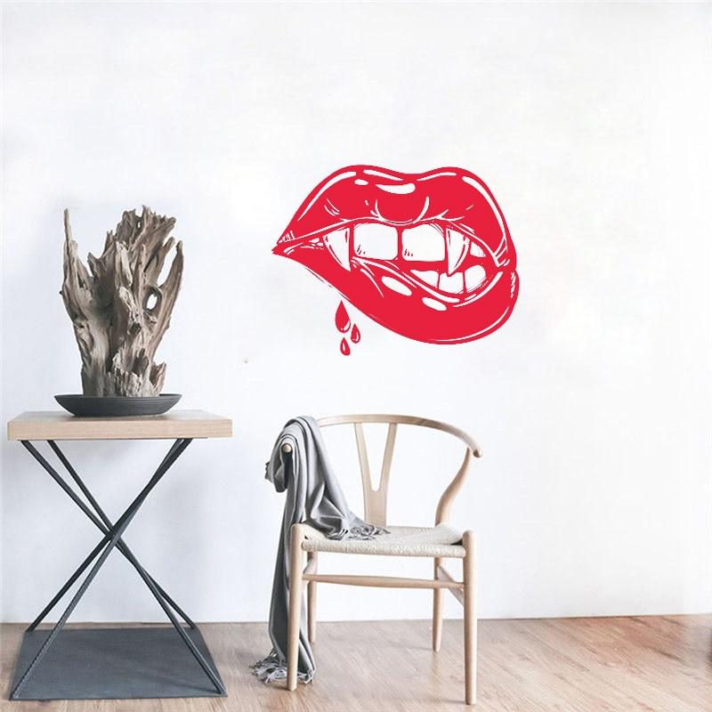 Autocollant mural en vinyle Vampire Sexy   Autocollant de décoration artistique, salle dintérieur à la maison, Design humoristique, idées de chambre H182