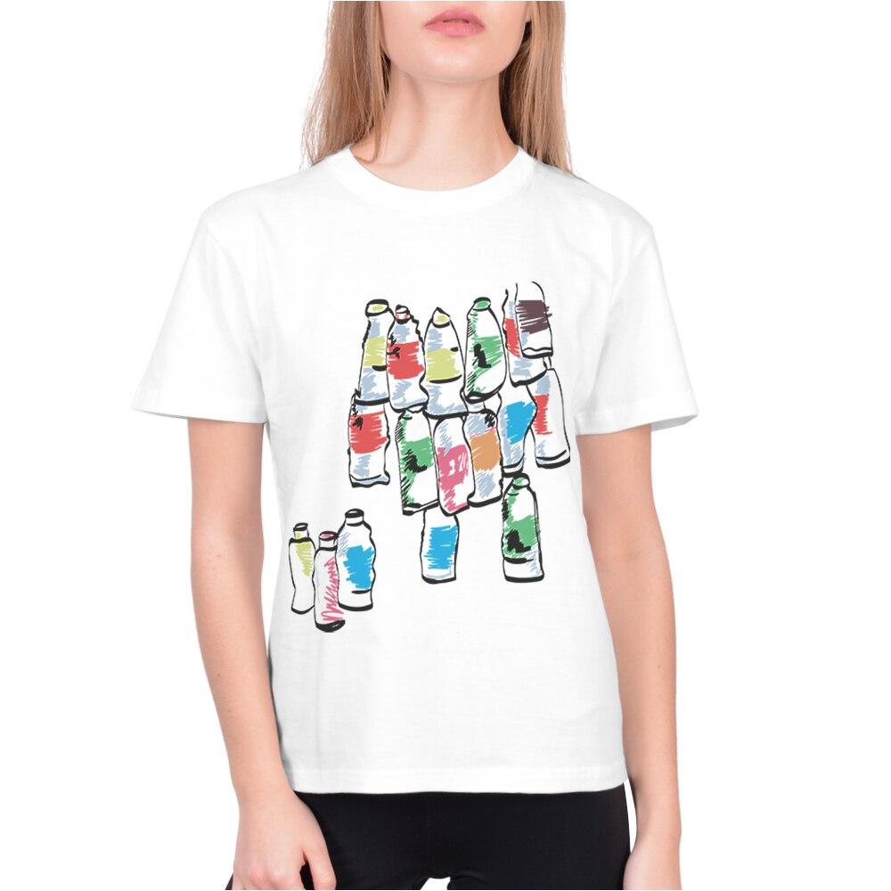Новая Базовая белая футболка, женские футболки, женская футболка с забавным креативным принтом и коротким рукавом, повседневные стильные т...