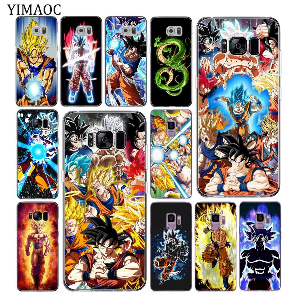 YIMAOC DRAGON BALL Goku Z DBZ Soft Tpu Silicone Phone Case for Samsung Galaxy S10 S9 S8 Note 10 Plus S7 Edge S10e