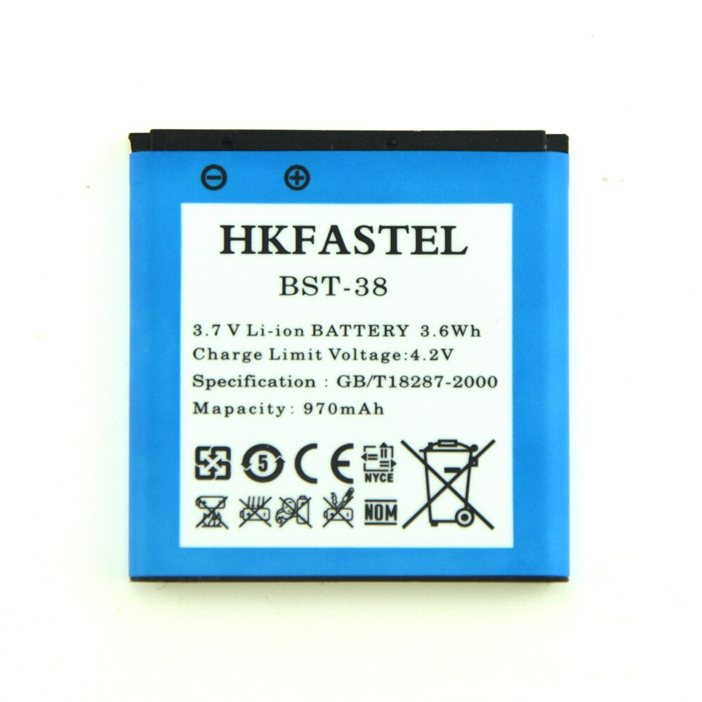 Батарея bst-38 BST 38 для Sony Ericsson C510 c902 c905 Yendo W150 W580 W580i w760 w902 w980 w995 W995a jalou f100 970 мАч