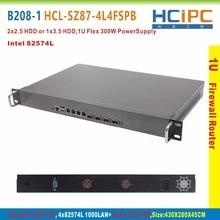 Hcipc B208-1 HCL-SZ87-4L4FSPB, 4g + 64g + i3 cpu, lga1150 z87 82574l 4lan + 4fsp 1u 방화벽 시스템, 4lan 마더 보드, 6lan 네트워크 라우터