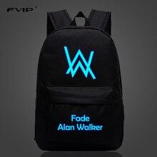 Music DJ Comedy Alan Walker Faded Backpack High Quality School Bag Travel Bags For Men Women
