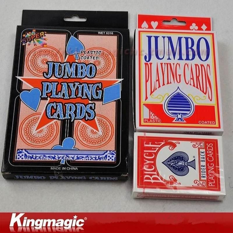 Super jumbo Deck (17.5x12.5 cm) Cartas de magia apoyos mágicos
