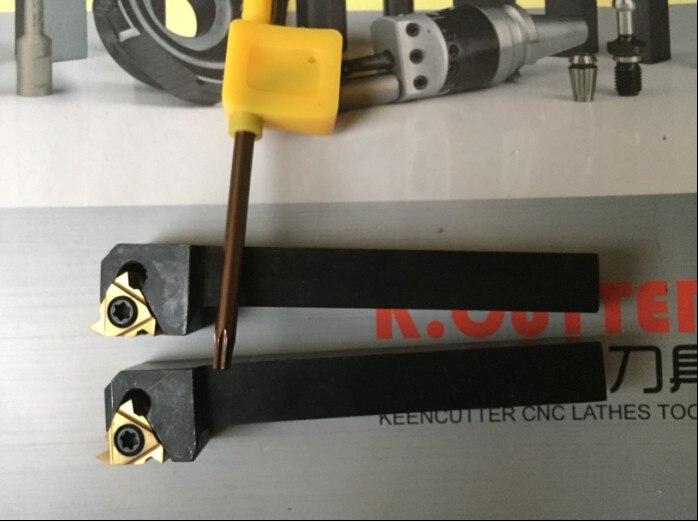2 uds SER 1616 H16 herramienta de torno de hilo + 2 uds ER16 AG60 CNC insertos de roscado de carburo herramienta de torno de CNC