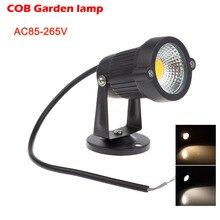 Led COB مصابيح الحديقة في الهواء الطلق الإضاءة 3*1 واط IP65 إضاءة مقاومة للماء حديقة بركة مسار الفيضانات بقعة مصابيح كهربائية الموفرة للطاقة AC85-265V
