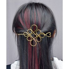 Mode Haar Zubehör Klassische Herz Haarnadel Chinesischen Knoten Hohl Blume Chinesischen Knoten Haar Sticks Clips für Frauen Schmuck