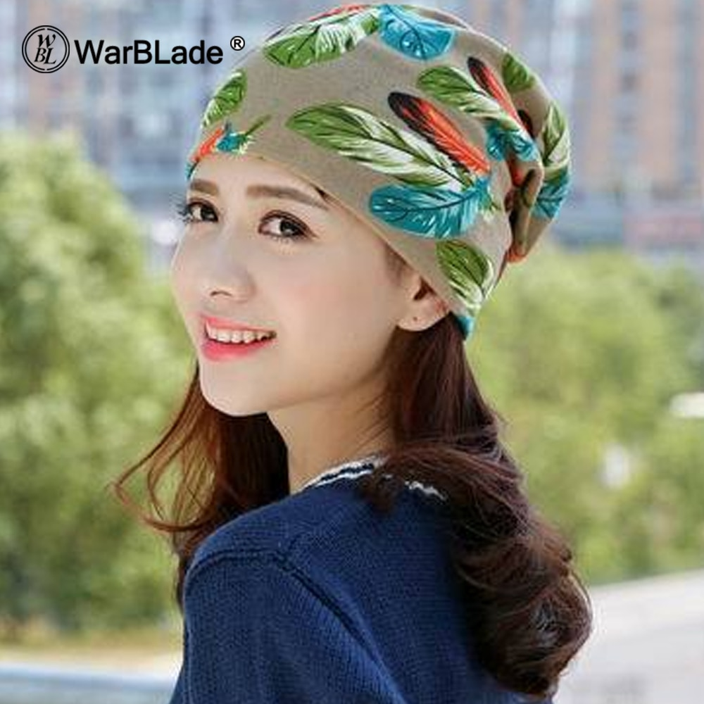 WarBLade Fashion 2018 New Spring-Autumn Women's Hats Lattice Pattern Beanies Knitted Hat Ear Protector Cotton Warm Skullies
