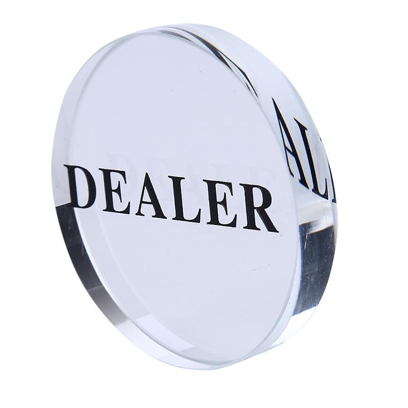 1PC Acrylic Button 58mm diameter Pressing Poker Cards Guard poker dealer button poker chips