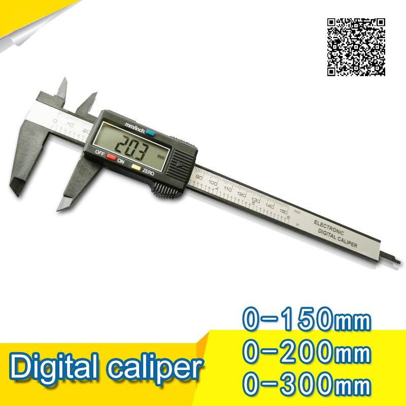 "Calibrador Digital VERNIER de carcasa de plástico de 0-150mm/6 ""calibrador Digital plástico micrómetro"