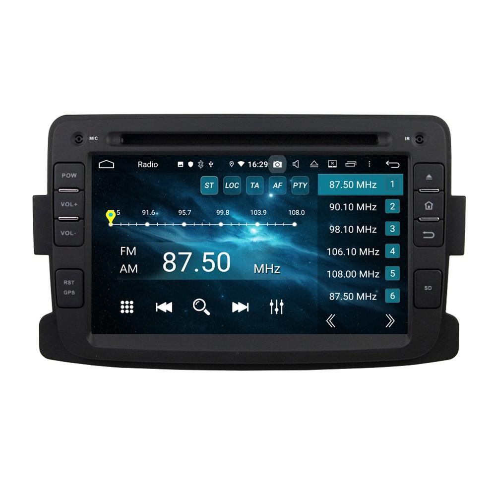 """RAM 4GB Octa Core 1 din 7 """"Android 9,0 Car Radio reproductor de DVD para el protector antipolvo para Renault Logan 2012-2016 GPS WIFI Bluetooth espejo-enlace"""