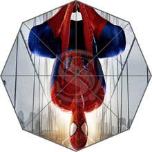WY612H23 Neue Benutzerdefinierte spiderman kunstwerk Sunny Rainy und Sonnenschutz Anti-Uv Sonnenschirm Wy23