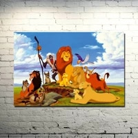 the lion king movie art silk poster print 13x20 24x36 inches cartoon pictures for bedroom living room decor simba 014