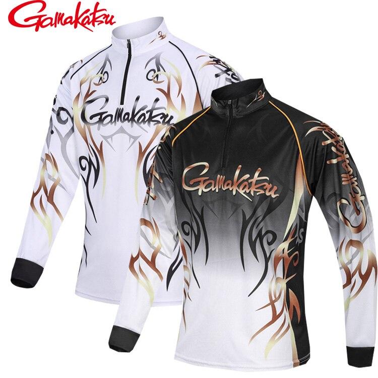 2019 Gamakatsu hombre al aire libre deportes camisas de pesca ropa de manga larga M-5XL Anti UV transpirable ciclismo caza senderismo ropa
