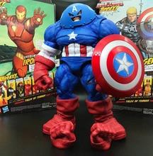 "Marvel Select DST x-men Juggernaut Capitán América personalizado 9 ""figura de acción suelta"