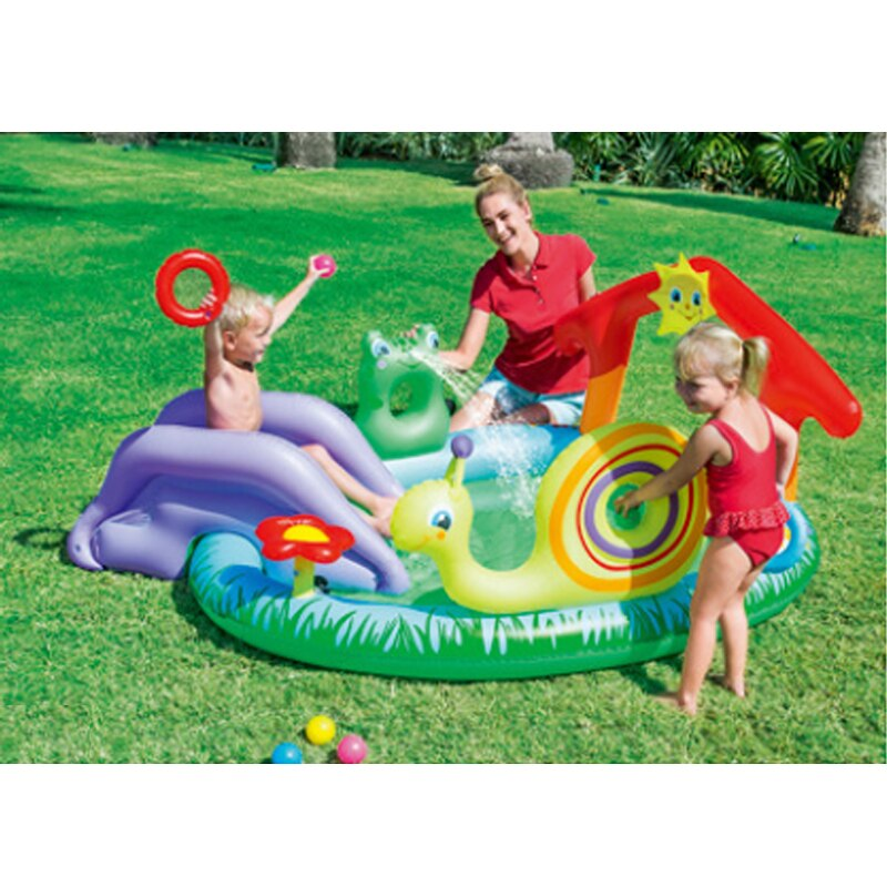 211*155*81cm Cute Baby Inflatable Marine Ball Water Pool Thickening Play Ground  Fish Swimming piscinas Pool Garden Play Pool