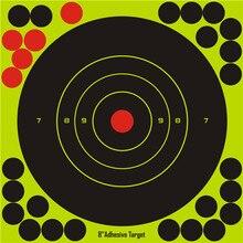 20 bâtons par paquet cible de fleur déclaboussure cible de tir de réactivité adhésive de 8 pouces pour les reliures de pistolet/fusil/pistolet