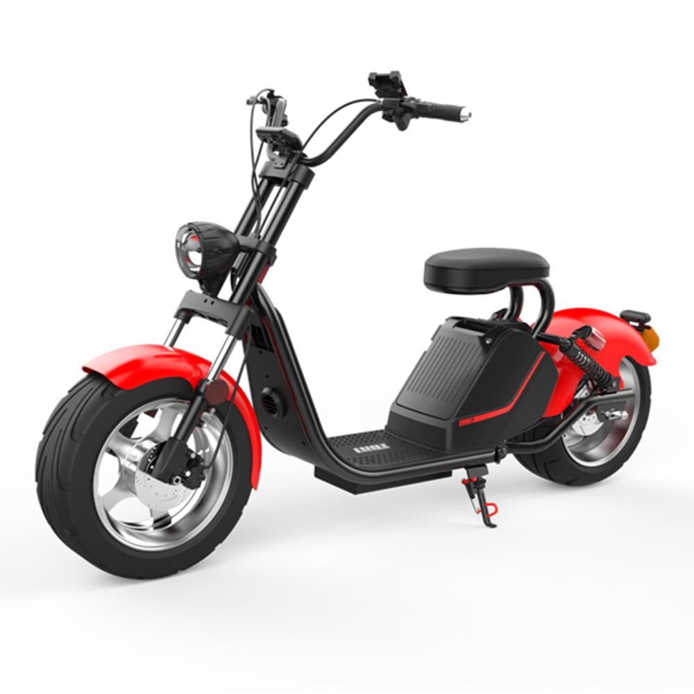 LUQI road legal eec/coc одобренный H3 3000 Вт 63v20ah Аккумуляторный пульт citycoco внедорожный электрический скутер Корабль из Голландии