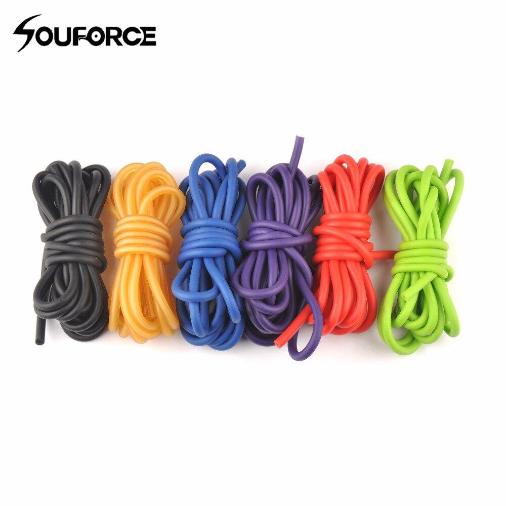 5mm * 2.5 m na zewnątrz rurka z naturalnego lateksu z 6 kolorów Stretch elastyczna proca pasek zastępczy katapulty procy gumowe