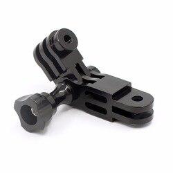 CNC Aluminium Drei-Way Pivot Arm Mount Adapter für GOPRO Hero 1 2 3 3 + 4 5 Sitzung /XiaoYi/SJ/GitUp Sport Kamera Teile F22265