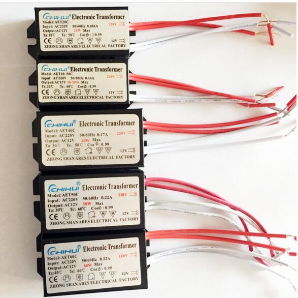 3 년 보증 할로겐 램프에 대 한 충분한 전원 전자 변압기 ac 220 v ac12v 20 w-250 w 선택적 led 드라이버
