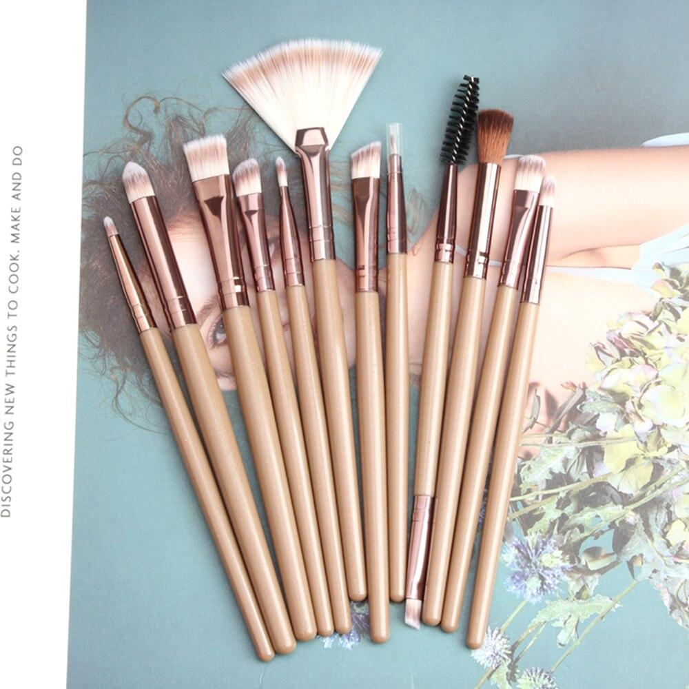 Juego de 12 Uds de brochas de maquillaje, sombra de ojos, base en polvo, delineador de pestañas, labios, maquillaje, brocha cosmética, herramienta de belleza, Kit Hot TSLM2
