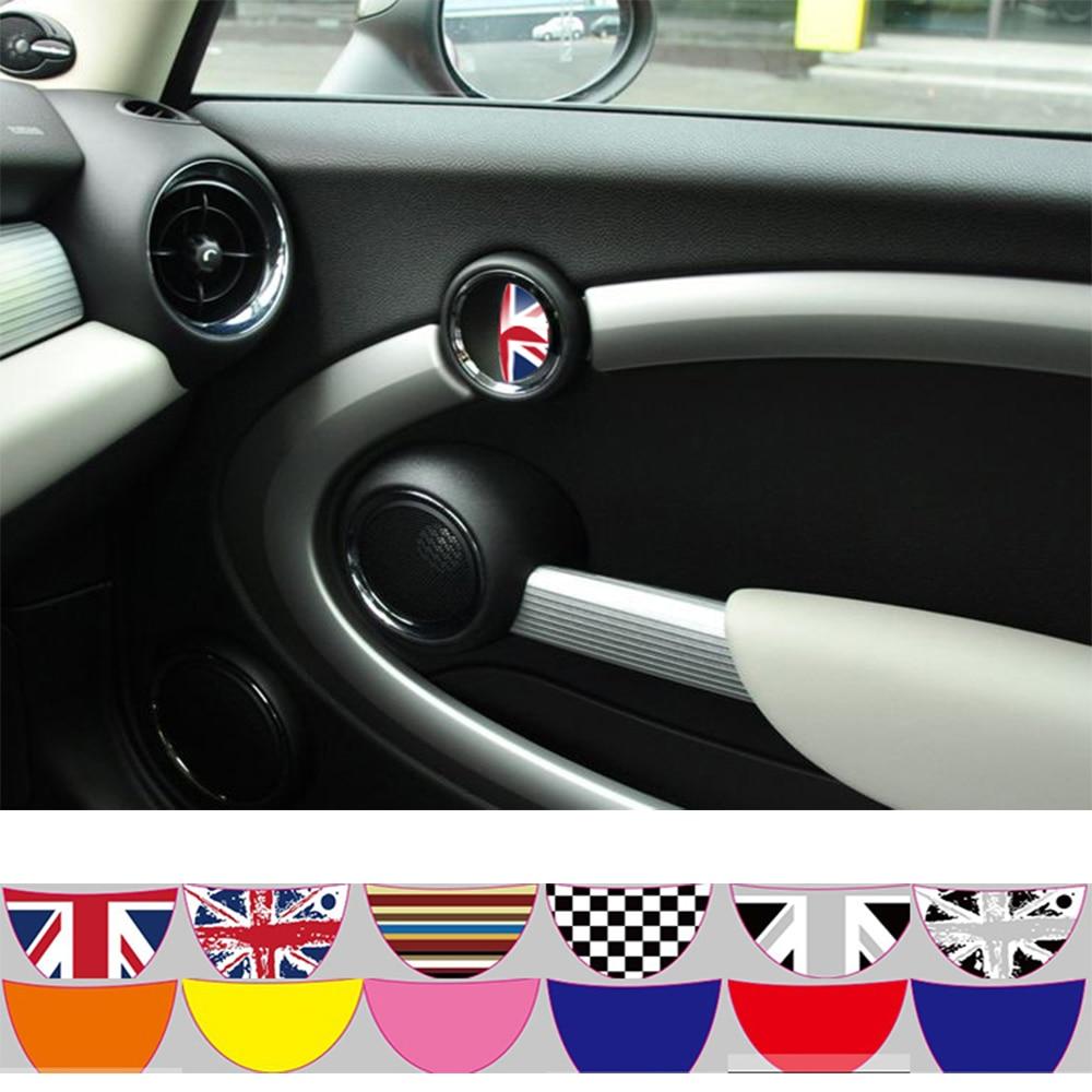 Aliauto 2 X coche etiqueta dentro de la puerta adhesivo de manija para BMW MINI COOPER R50 R52 R53 R55 R56 R57 R58 R59 R60 R61 R62