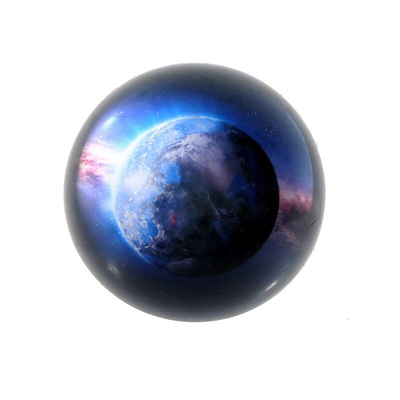 Pisapapeles de vidrio de 80mm patrón de planeta 3D bola decorativa de cristal de media esfera colección decoración de hogar Souvenir Feng Shui