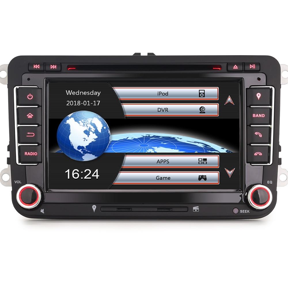 Autoradio GPS DAB + Navi 8 Core iPhone7/8 DVD   OBD OPS, Bluetooth 3G CD pour VW Golf Passat Touran Sharan EOS Jetta Polo Seat