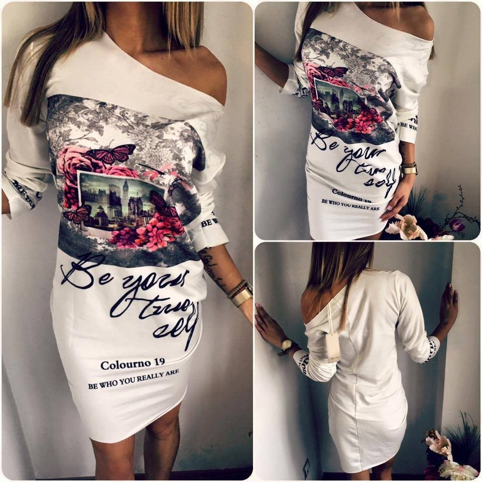 Novas mulheres vestido de verão moda imprimir ombro oblíquo solto sexy casual bainha mini vestidos robe bodycon vestidos plus size 5xl