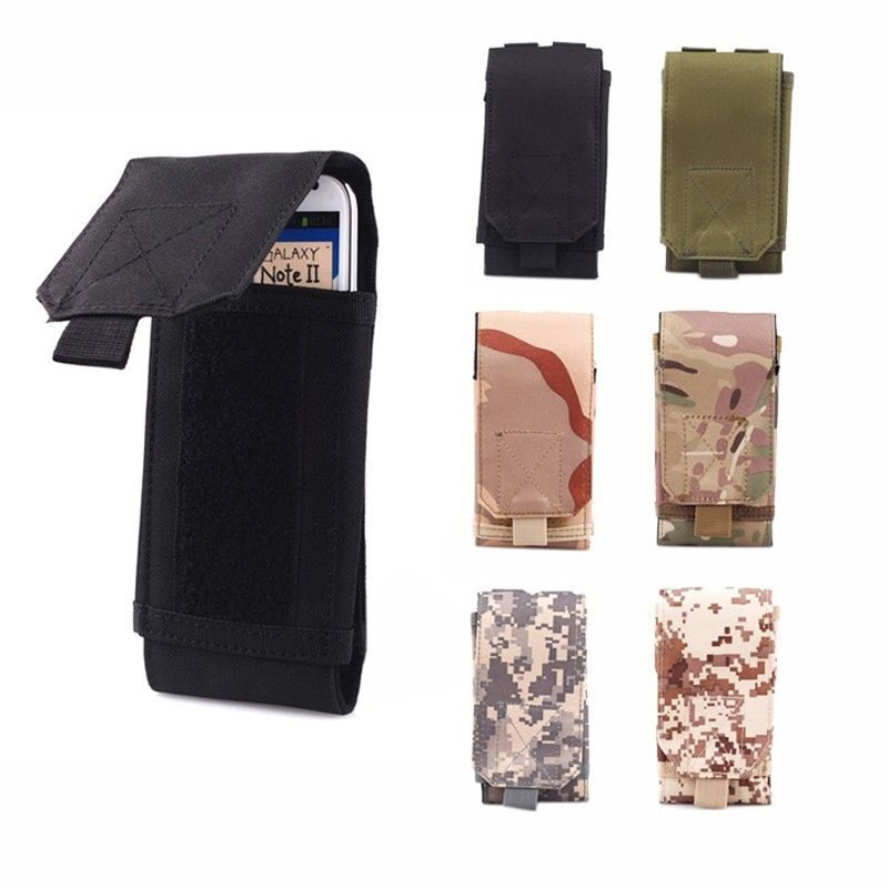 MOLLE Waist Bag Army Tactical Military Mobile Phone Belt Pouch Case Cover For Xiaomi iPhone 12 XR XS