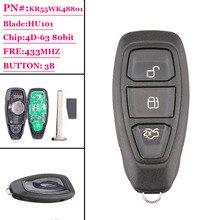 1 штука 3 кнопки смарт ключ KR55WK48801 433 МГц для Ford Focus Fiesta Kuga 2011 2012 2013 2014 2015
