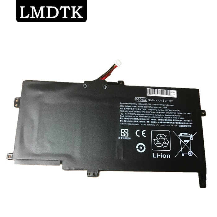 LMDTK Новый аккумулятор для ноутбука HP Envy 6-1051ER ENVY 6-1006EA ENVY 6-1004TU HSTNN-IB3T TPN-C103 TPN-C108 EG04XL HSTNN-DB3T