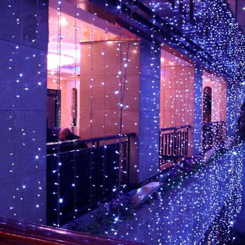 10x1m 10x3m LED Christmas Lights Outdoor Garlands Wedding Decorations Cortina De Led Curtain Lights IP65 LED STRING Fairy Lights