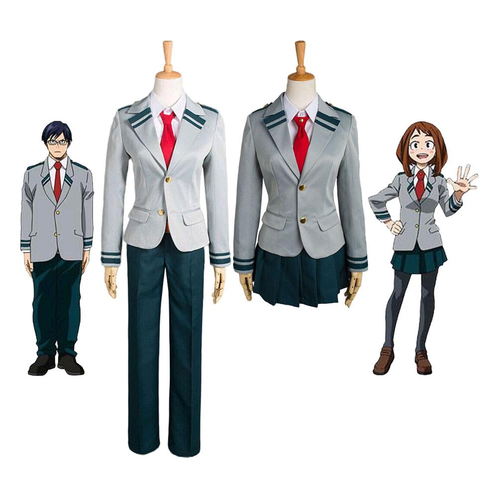 Boku no Hero academic AsuiTsuyu Yaoyorozu Momo школьная форма My Hero academic OCHACO URARAKA Midoriya Izuku костюм для мужчин и женщин