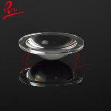 Diamètre 23mm haute puissance Led lentilles optiques surface transparente lampe de poche asphérique photique verre plano-convexe lentille