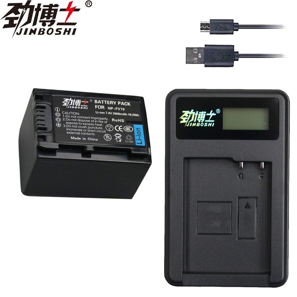 Novo PCS 2600mAh NP NP-FV70 1 FV70 NPFV70 Li-ion battery & USB Carregador para Sony NP-FV50 FV30 HDR-CX230 HDR-CX150E HDR-CX170 CX300