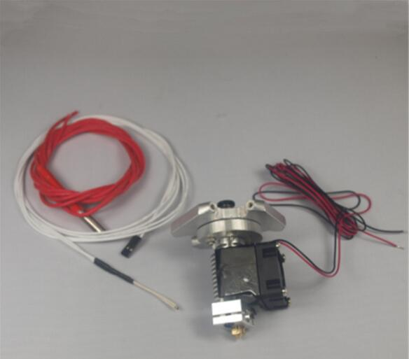 1 conjunto * auminum bateu final effector + v6 hotend kit/set104GT-2 termistor 1.75/3mm para reprap kossel rostock impressora 3d