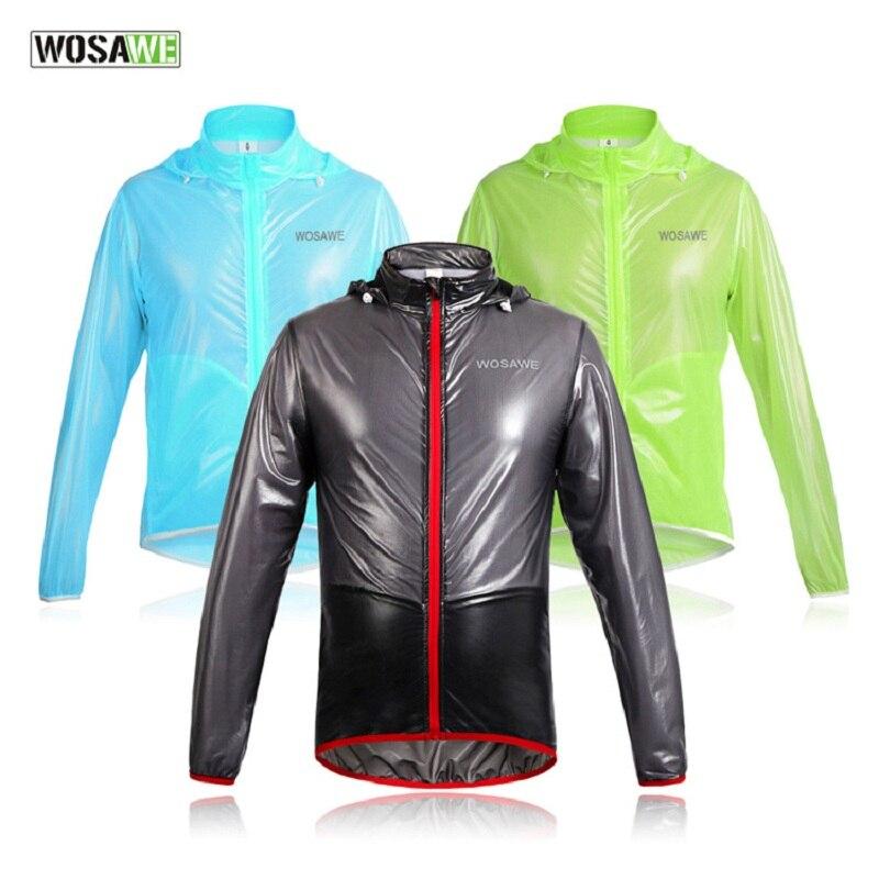 WOSAWE, nuevo chubasquero para ciclismo, impermeable, chaqueta reflectante para bicicleta, abrigo largo para lluvia y viento, ropa ciclismo