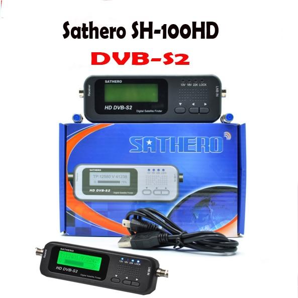 SH-100HD sat finder DVB-S/s2 hd sathero bolso digital localizador de satélite receptor de sinal de satélite com usb 2.0 display lcd