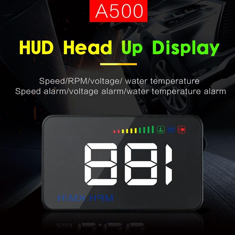 GEYIREN A500 3,5 HUD coche cabeza pantalla OBD II velocímetro de coche en el ordenador de a bordo