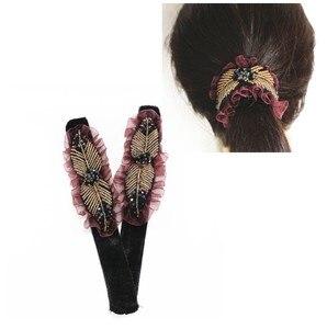 new fashion 2pcs/lot  Magic Slap Band Disk hair for Women Hair Band Hair Twist Styling Braid accessories HS-18522