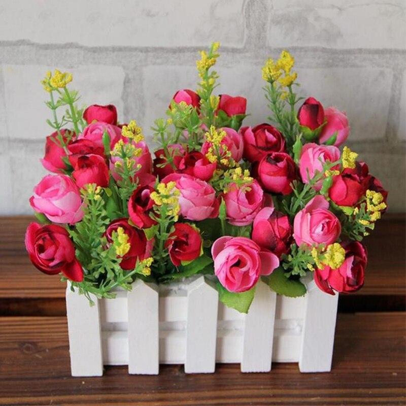 Decoración De boda valla De madera florero hogar planta para decoración De...