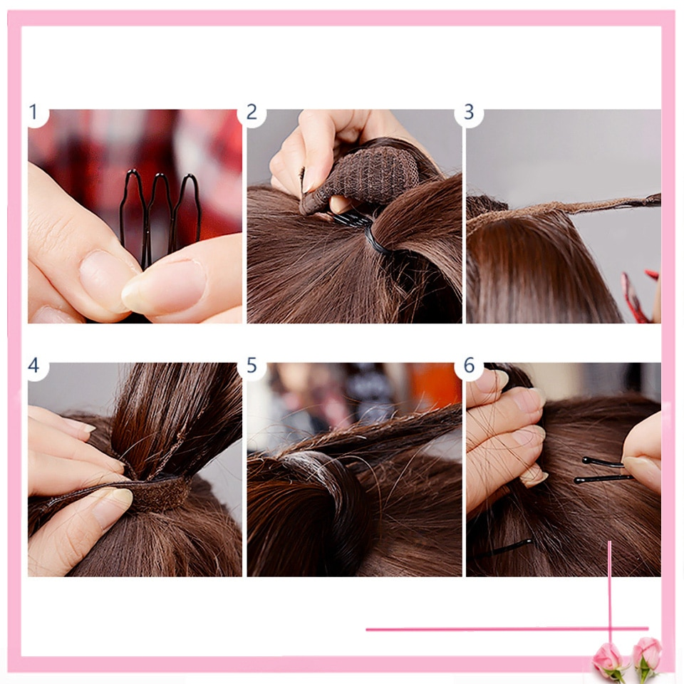 HOUYAN Long Straight Hairpin Adult Women Long Straight Ponytail False Hair Heat-resistant Ponytail Hair Extension Accessories