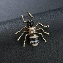 Broches pour femmes, Broches à la mode en émail, broche à insecte mignonne, bijoux de couleur or
