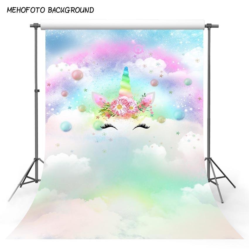 Photography backdrop Unicorn Party Rainbow Star Decor Birthday baby shower Photo Background Custom Backdrop photo Studio