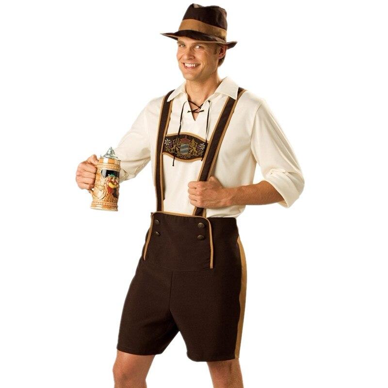 Traje de Oktoberfest para hombres, ropa de fiesta de Octoberfest de Baviera, disfraces de Halloween