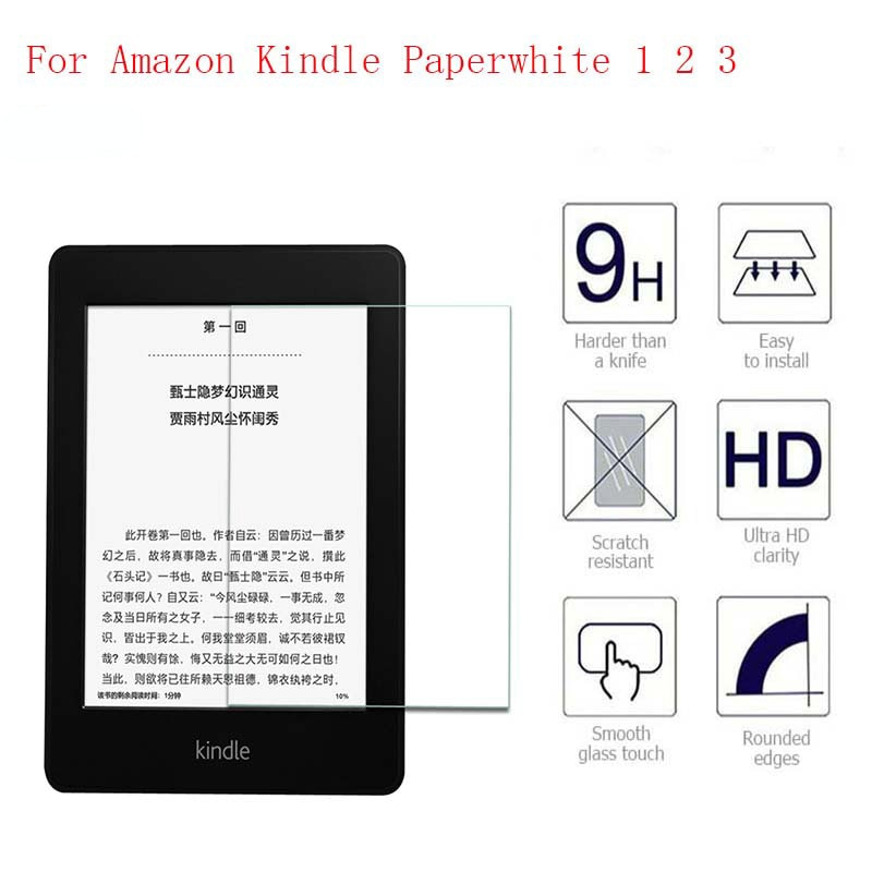 9H Screen Protector For Amazon Kindle Paperwhite Tempered Glass for All Kindle Paperwhite 1 2 3 2015 2016 Protective Film 6 Inch недорого