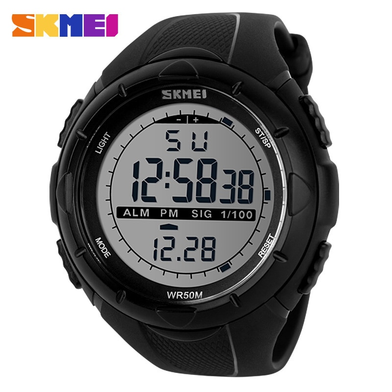 SKMEI Fashion Simple Sport watch Men Military Watches Alarm Clock Shock Resistant Waterproof Digital