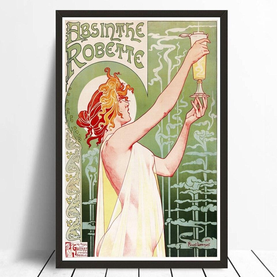 Absinthe Robette постер холст постер печать домашний Декор Картина 24x36 дюймов без рамки